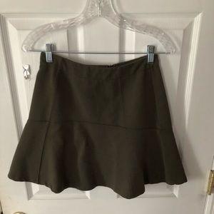 Ann Taylor LOFT: Hunter Green Skater Skirt